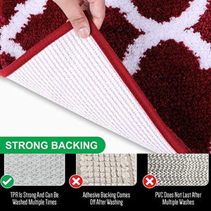 2 Piece Microfiber Bath Mat Set