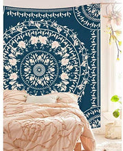 Load image into Gallery viewer, Sketched Floral Medallion Tapestry