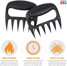 Load image into Gallery viewer, The Original Bear Paws Shredder Claws - Easily Lift, Handle, Shred, and Cut Meats - Essential for BBQ Pros - Ultra-Sharp Blades and Heat Resistant Nylon