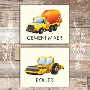 Trucks Set of 6 Construction Wall Decor
