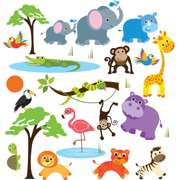 Safari Adventure Stick Wall Decals