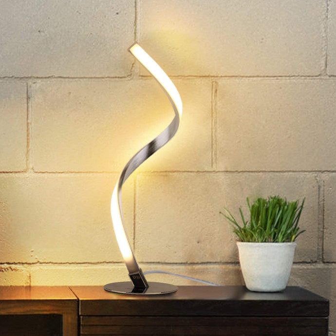 Dimmable Spiral Design LED Table Lamp