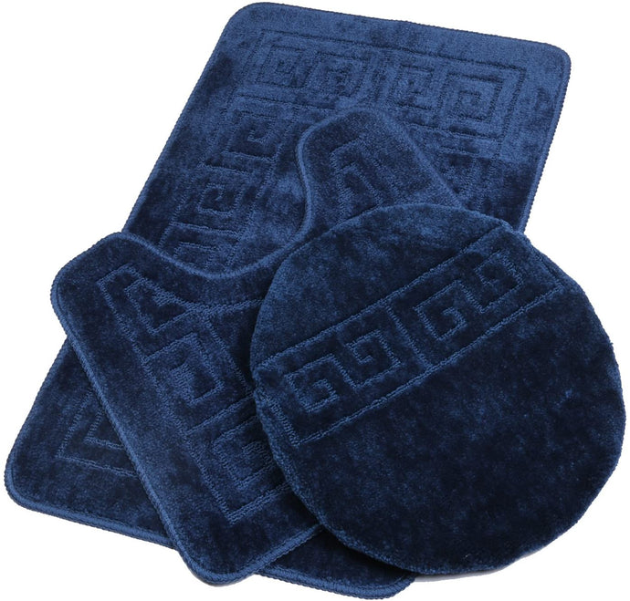 3 Piece Non Slip Bath Mat Set