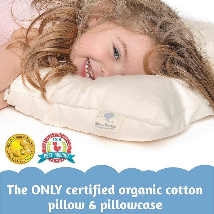 Toddler Pillow 100% Organic Cotton Pillow