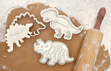 Load image into Gallery viewer, Fred DIG-INS Dinosaur Fossil Cookie Cutter/Stampers, Set of 3