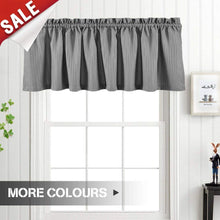 Load image into Gallery viewer, Valance Light Teal 18 inch Kitchen Window Curtain Living Room Bedroom Waterproof Bathroom Curtains Valance Panel Sold Individually