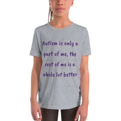 YOUTH/KIDS Short Sleeve T-Shirt. AUTISTIC