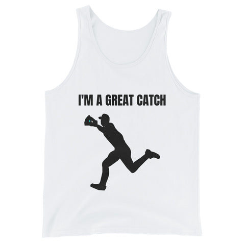 I'M A GREAT CATCH. (BASEBALL). Unisex Tank Top