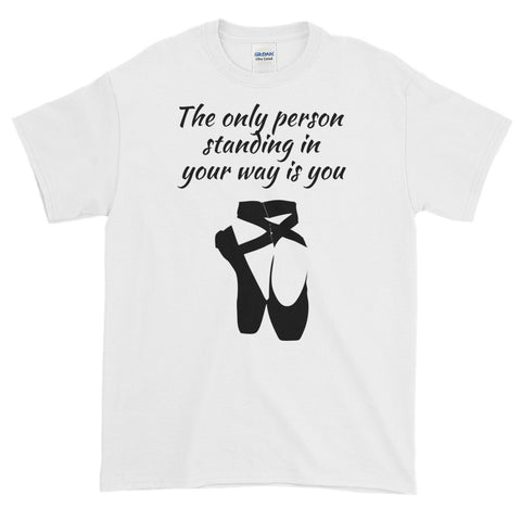 THE ONLY PERSON... (BLACK SWAN. BALLET) Adult Short-Sleeve T-Shirt