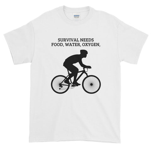 SURVIVAL NEEDS FOOD WATER OXYGEN (CYCLING)e T-Shirt