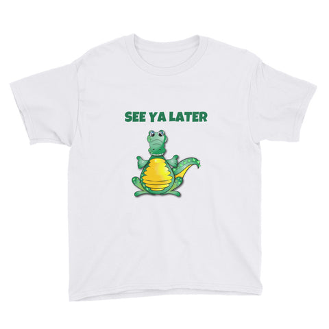 SEE YA LATER (ALLIGATOR).YOUTH/KIDS. Short Sleeve T-Shirt