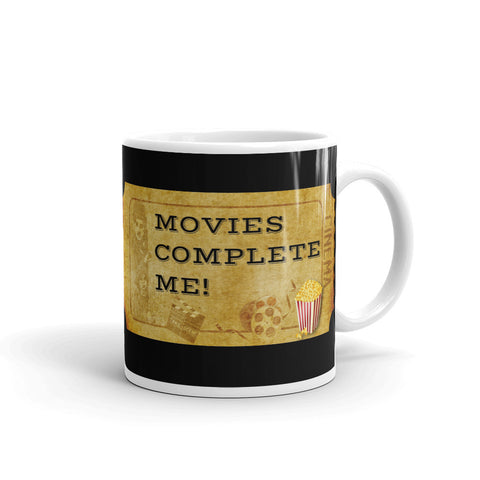 MOVIES COMPLETE ME. MUG. CHRISTMAS.