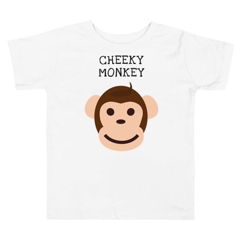 CHEEKY MONKEY. TODDLER. Short Sleeve Tee