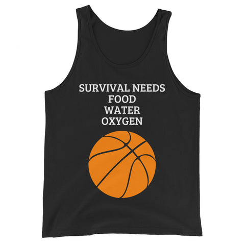 SURVIVAL NEEDS (BASKETBALL) Unisex  Tank Top