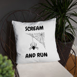 SCREAM AND RUN. SPIDER. Basic Pillow