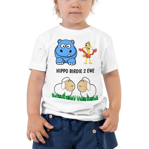 HIPPO BIRDIE 2 EWE (HAPPY BIRTHDAY TO YOU) Please note shipping times. Toddler Short Sleeve Tee