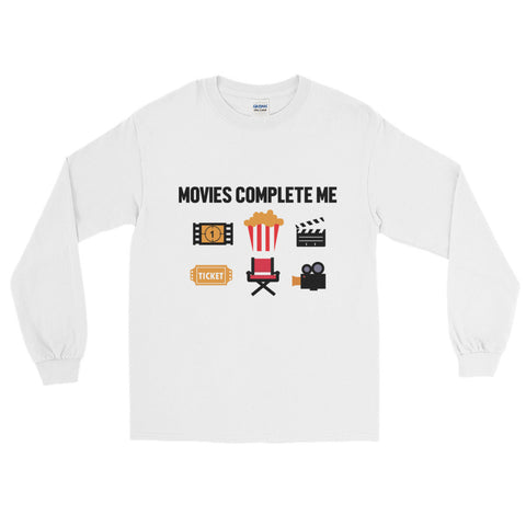 MOVIES COMPLETE ME. LONG SLEEVE TSHIRT. MM60