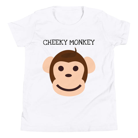 CHEEKY MONKEY. YOUTH/KIDS. Short Sleeve T-Shirt