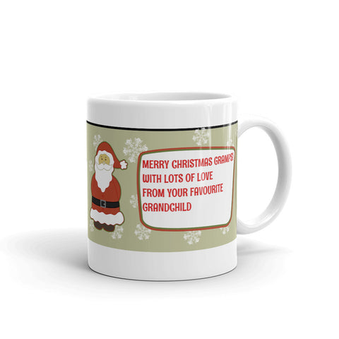 MERRY CHRISTMAS GRAMPS! MUG. GRM565
