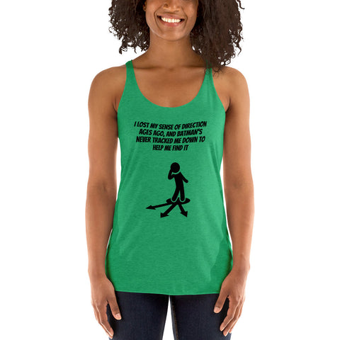 SUPERHERO/BATMAN/D.C.COMICS. Women's Racerback Tank