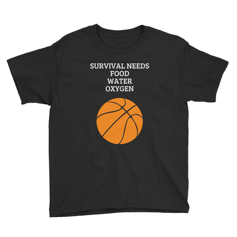 SURVIVAL NEEDS (BASKETBALL) YOUTH Short Sleeve T-Shirt