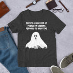 LOOKING FORWARD TO HAUNTING. Short-Sleeve Unisex T-Shirt