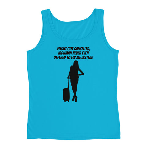 SUPERHERO/MARVEL/WOMAN/TRAVEL/IRONMAN. LADIES' TANK TOP.