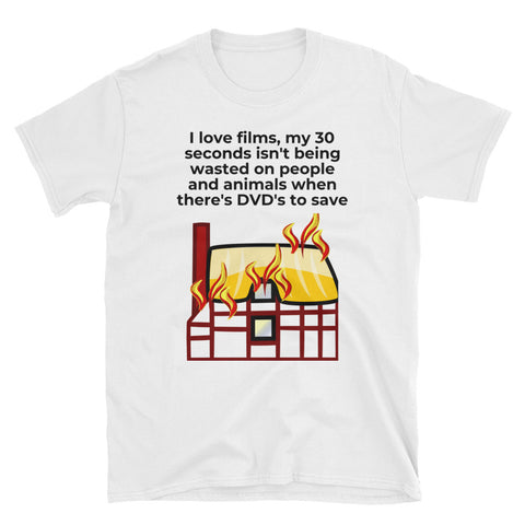 I LOVE FILMS. Short-Sleeve Unisex T-Shirt