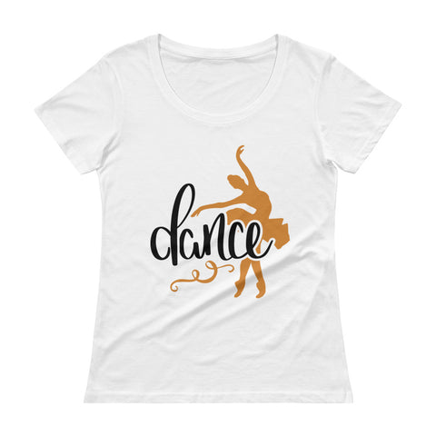 BALLET DANCE. Ladies' Scoopneck T-Shirt