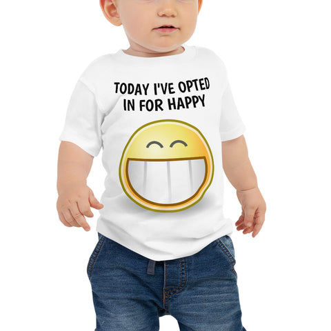 HAPPY. Baby Jersey Short Sleeve Tee