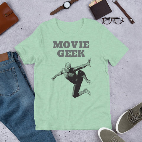 MOVIE GEEK. Short-Sleeve Unisex T-Shirt. SUPERHERO.