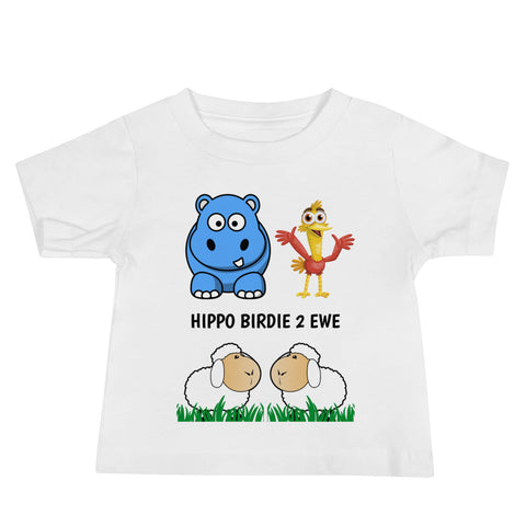 HIPPO BIRDIE 2 EWE (HAPPY BIRTHDAY TO YOU) Please note shipping times.Baby Jersey Short Sleeve Tee