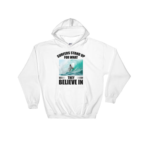 SURFERS STAND UP HOODIE. (SURFING)