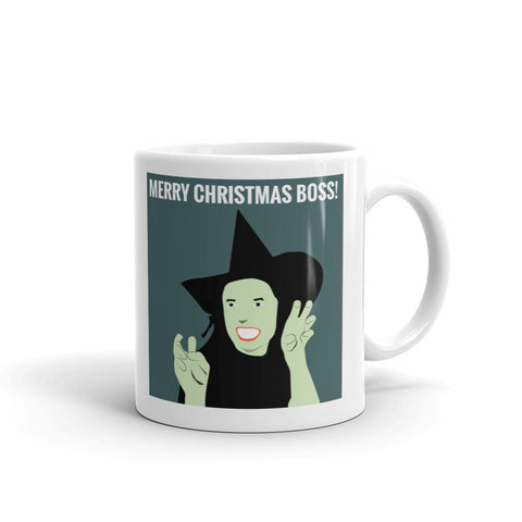 MERRY CHRISTMAS BOSS! WITCH MUG. MX8