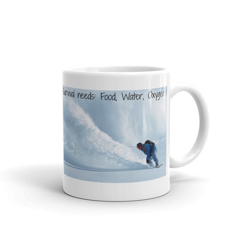 SURVIVAL NEEDS FOOD WATER OXYGEN (SNOWBOARDING) DESIGN 2. SNMG528