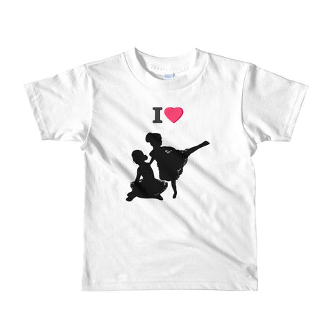 2YRS-6YRS KIDS T-SHIRT. I LOVE BALLET. Short sleeve kids t-shirt
