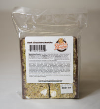 Matcha Dark Chocolate Rice Crispy Treat Back of Bag