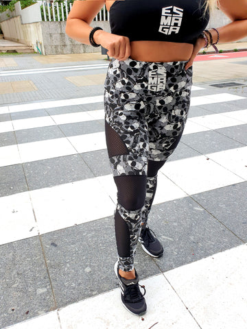 Leggings Skull & 3D Logo