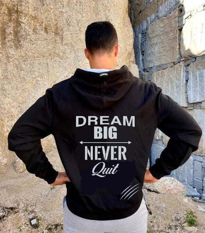 Hoodie Silver Dream Big-Never Quit