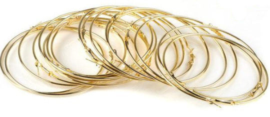Large Hoop Earrings - 3 inch - Choice of Gold or Silver Tone
