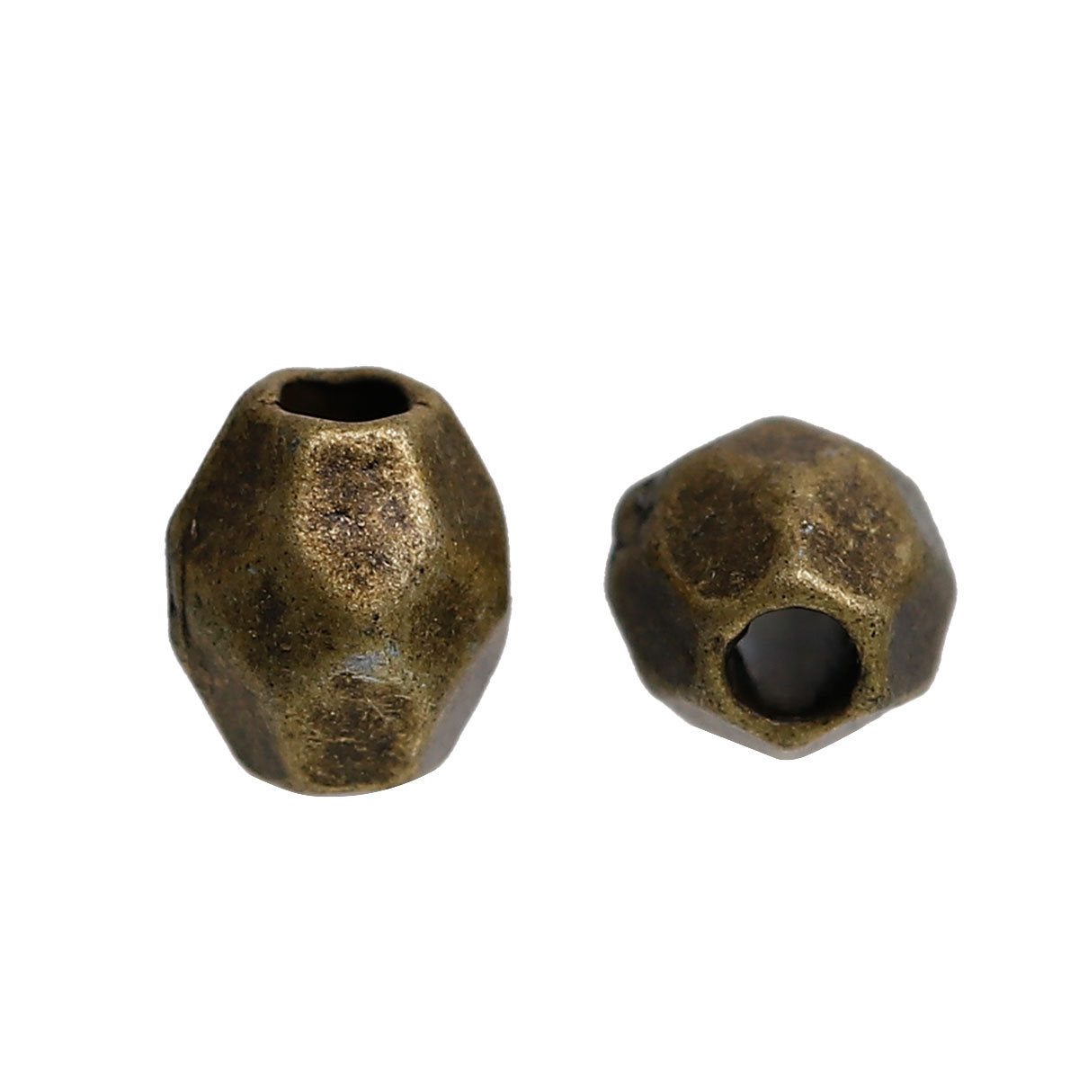 "Bronze Bicone Spacer Beads 4mm (1/8"") x 3mm (1/8""), Hole: Approx 1.4mm, 50 pieces"