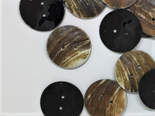 Extra Large Shell Buttons - Freshwater Shell Buttons - 2 inch - 5cm -  Freshwater Shell Buttons  (SHEL
