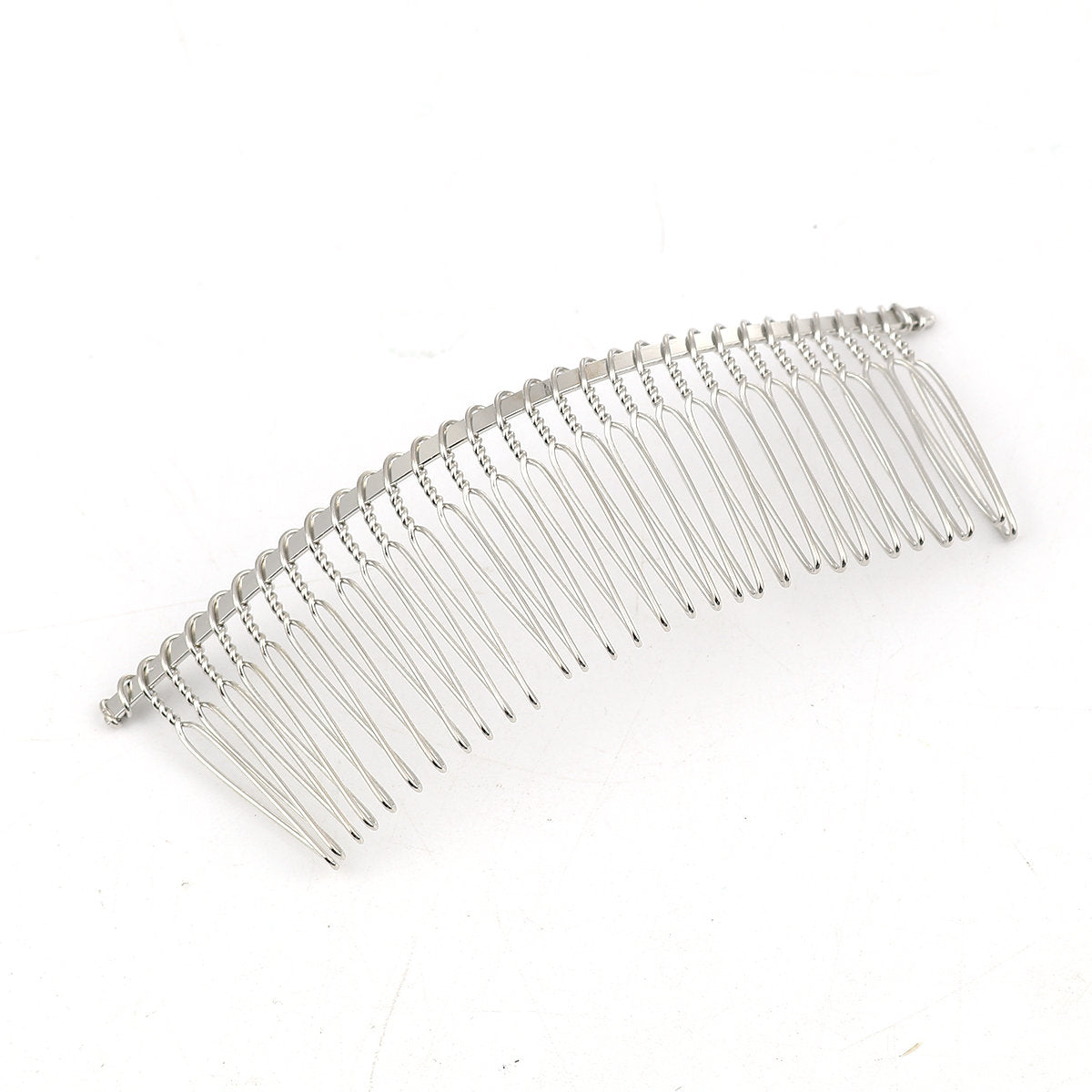"5 Wide Silver Hair Combs - Lead and Nickel Free - Wedding Bridal Comb -  11.5cm  x 4cm  (4 1/2"" x 1 5/8"")"