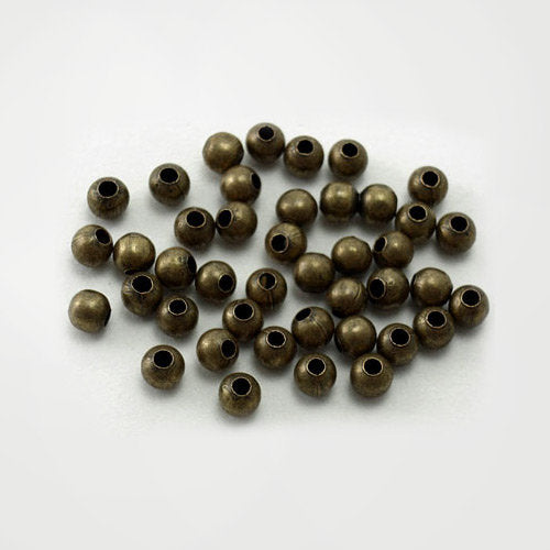 200 Bronze Spacer Beads - 4mm - Nickel, Lead, Cadmium Free -  Bulk Bronze Bead X-E148Y