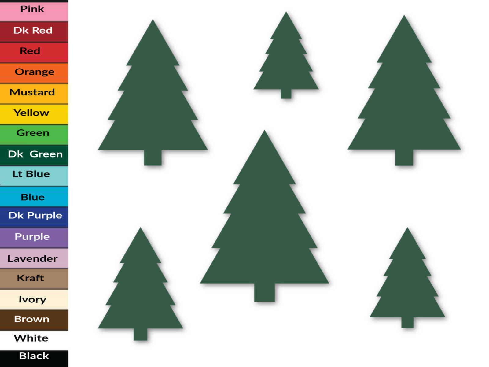 Christmas Tree Paper Die Cuts, Paper Cuts, Holiday Cut Outs, Christmas Tree Confetti
