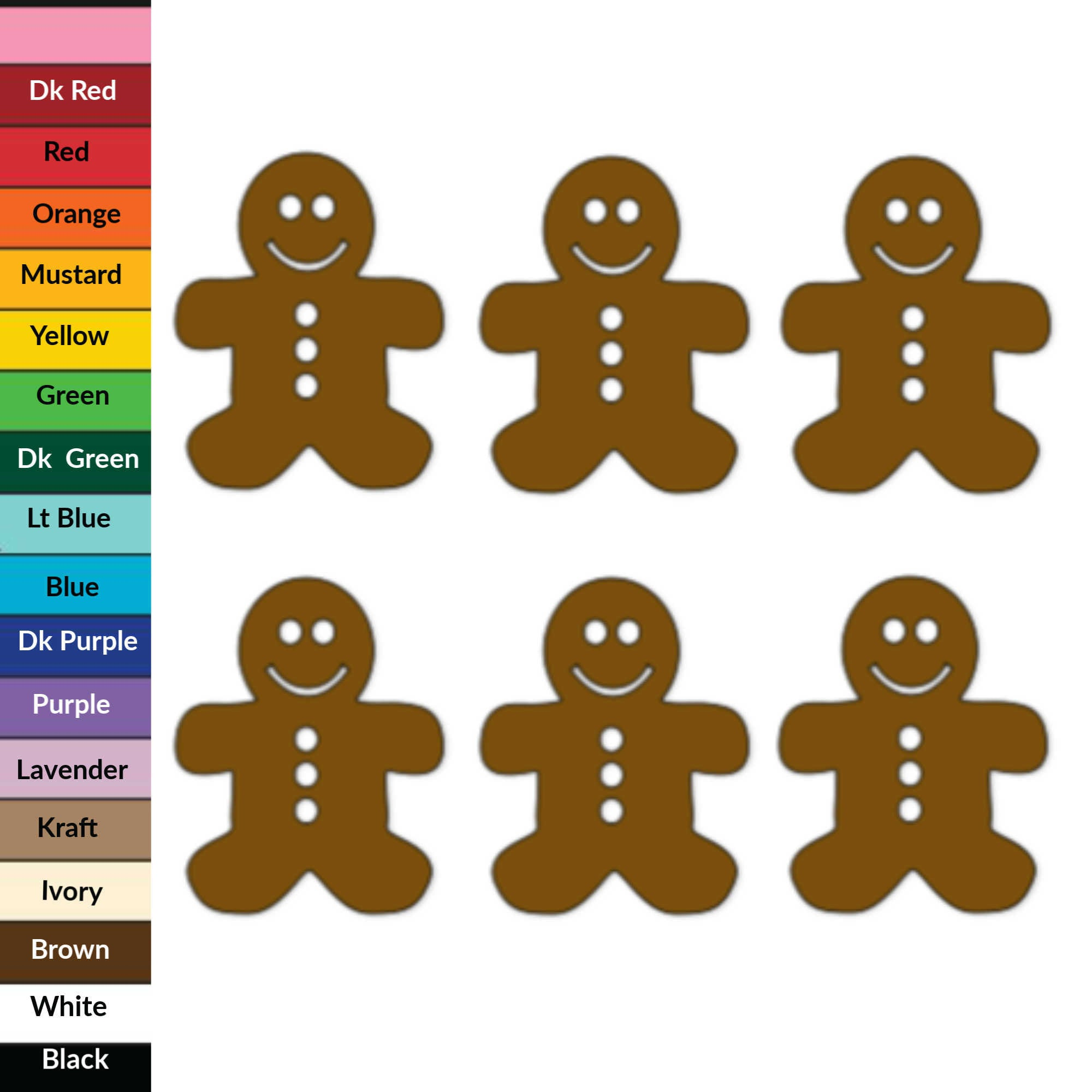 Gingerbread Man Paper Die Cuts, Paper Cuts, Chrisman Cut Outs, Holiday Confetti