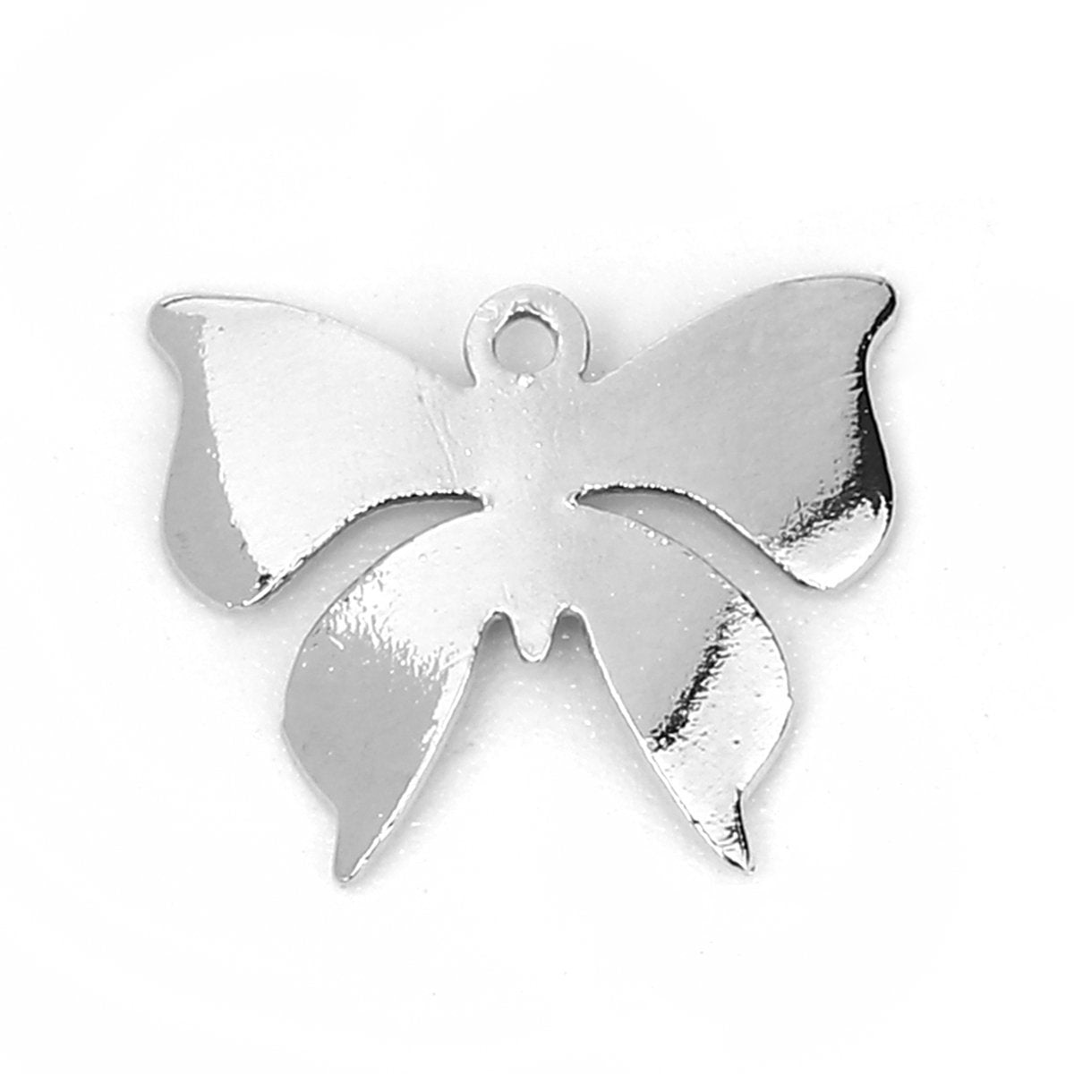 Silver Butterfly Charm Pendant - Lead and Nickel Free