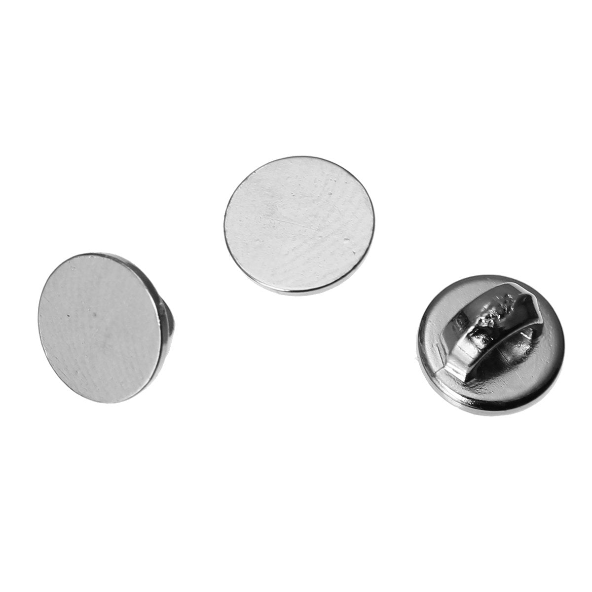 Silver Resin Buttons - 6mm (1/4 inch) - Shank