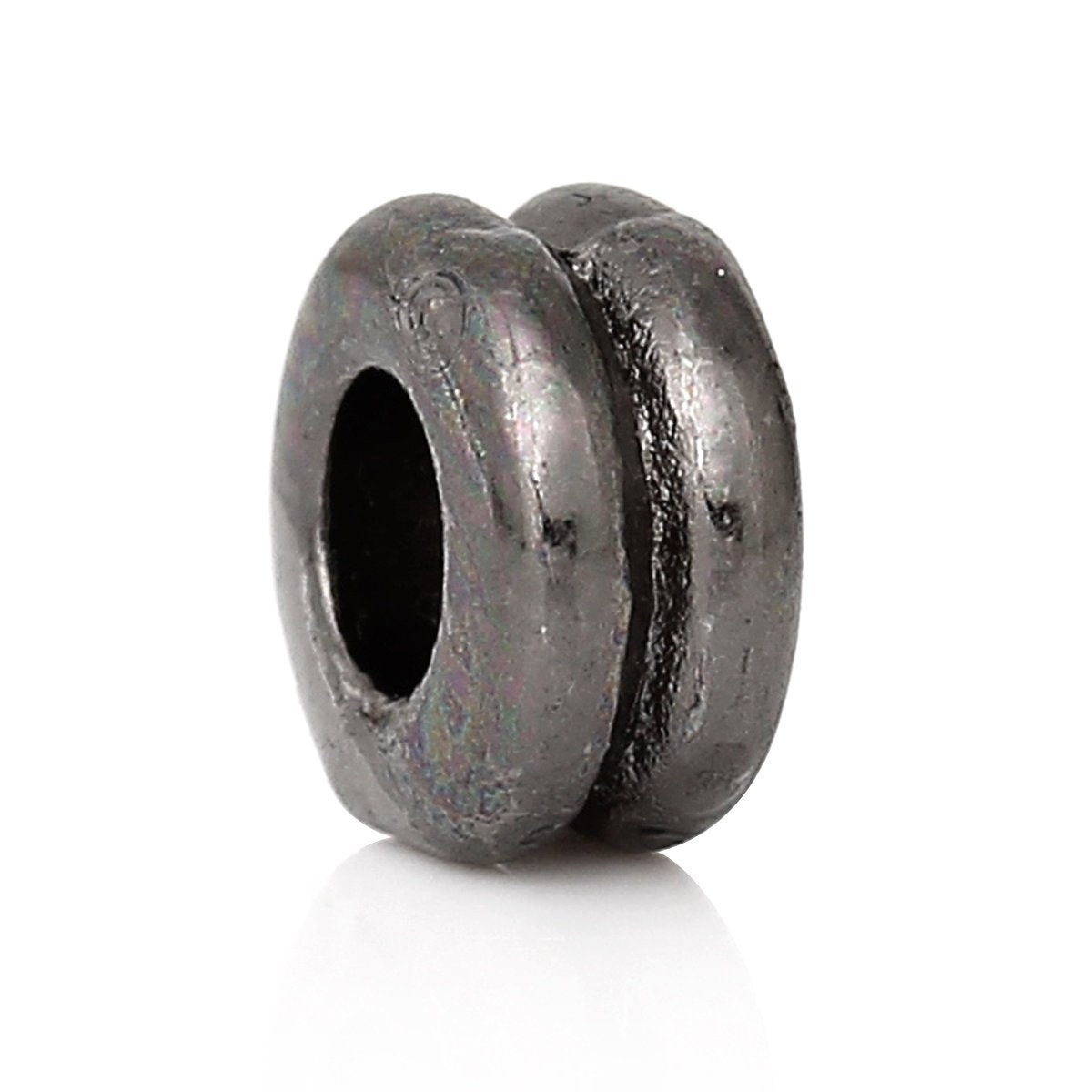 Slider Spacer Beads - Gunmetal 6.0mm x 3.0mm