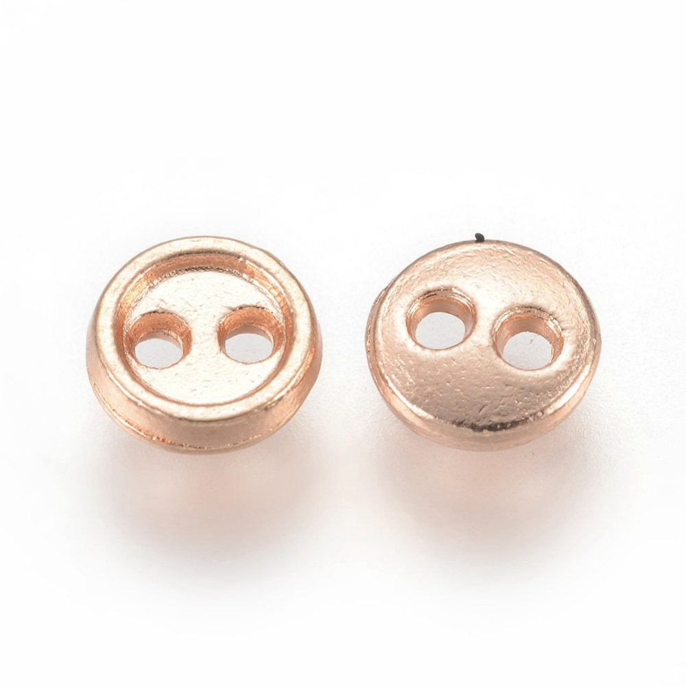 Gold Finish Metal Mini Buttons - 5mm x 1mm